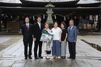 神社でお宮参り - 中山写真館のブログです。