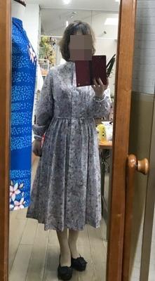 仮縫いしたリバティワンピの試着してみたど~~ - 新生・gogoワテは行く!