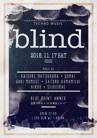 """11/17(土) """"blind"""" at BLUE POINT ANNEX - I am HALATION"""