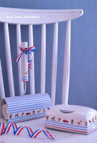 ◆デコパージュ*甥っ子へ♡コロコロとおしりふきケースのセット - フランス雑貨とデコパージュ&ギフトラッピング教室 『meli-melo鎌倉』