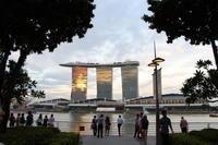 過去の海外旅行シンガポール夕暮れ時のマーライオンパーク - ゆらりっぷ -yurari's trip-