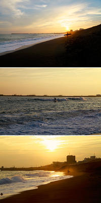 2018/09/22(SAT) SUNSET SURFING. - SURF RESEARCH