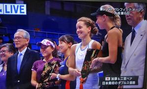 加藤&二宮ペアが初優勝東レPPオープンテニス -