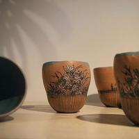 草花のフリーカップ - warble22ya