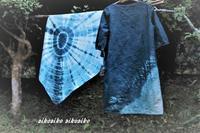 藍染めのワンピースと風呂敷 - 今が一番