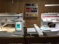 うさぎと洗濯の機刺繍 - ソライロ刺繍