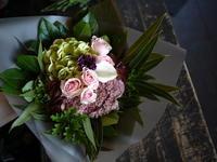 敬老の日のブーケ風花束。2018/09/17。 - 札幌 花屋 meLL flowers