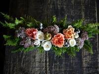 お誕生日のブリキコンテナアレンジメント。「楽しい感じ」。2018/09/21。 - 札幌 花屋 meLL flowers