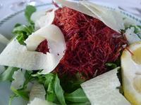 細く裂いた燻製の馬肉にパルミジャーノ (Sfilacci di carne di cavallo con parmigiano) - エミリアからの便り
