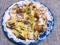 アサリとキャベツの蒸し煮 - Minha Praia