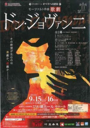 びわ湖ホールオペラへの招待「ドン・ジョバンニ」・・・その2 - 影はますます長くなる