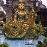 プラチンブリのお寺へ行きました - 65歳お父さん、バンコク子育て日記