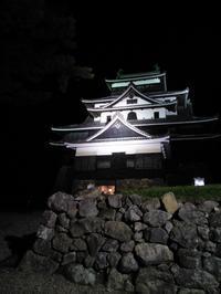 夜の国宝松江城 - B級出張日記