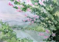百日紅と高遠湖 - ryuuの手習い