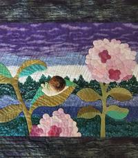紫陽花のフレーム - Anjyuのミシンキルト教室