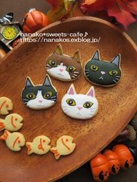 ハロウィン猫ちゃんクッキー&misarin さんチャリティーバザー - nanako*sweets-cafe♪