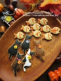 ハロウィンアイシングクッキー猫ちゃん! - nanako*sweets-cafe♪