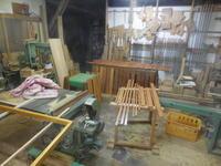 腰板の塗装。 - 手作り家具工房の記録