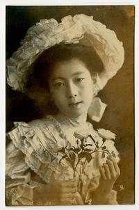 【100年前の絵葉書の中の美人さんたち】 - お散歩アルバム・・紫陽花日和