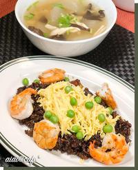 岡山B級グルメ!えびめし&冬瓜の旨味スープ煮 - aiai @cafe
