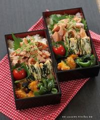 ほぐし鮭のっけ弁 ✿ ガーリックトマトチキン(๑¯﹃¯๑)♪ - **  mana's Kitchen **