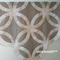 トップ完成 (ダブルウェディングリング) - 布と綴る日々     slow breath