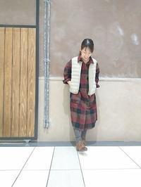 AGNOST ビッグチェックロングシャツ - GEOGRAPHY YAMATOKORIYAMA   BLOG