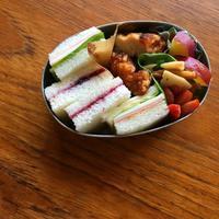 食べやすいミニサンドイッチ弁当 - 野口家のふだんごはん ~レシピ置場~
