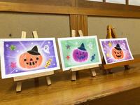 ハロウィンの絵を描いていただきました - アトリエ絵くぼのパステルアート教室