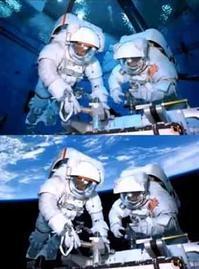 宇宙飛行士 プールでの予行練習ビフォー & アフター/画像 - 『つかさ組!』