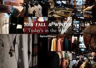 """2018 Fall & Winter~Today's in the shop...9/27thu"" - SHOP ◆ The Spiralという館~カフェとインポート雑貨のある次世代型セレクトショップ~"