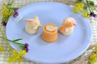 餅つきうさぎの練り切り十五夜2018Harvest Moon - Homemade Rabbit Nerikiri - お茶の時間にしましょうか-キャロ&ローラのちいさなまいにち- Caroline & Laura's tea break