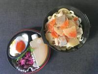 9/28豚汁うどん弁当 - ひとりぼっちランチ