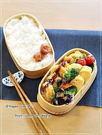 ちびエビフライ弁当とクルクルうずまきラウンドパン♪ - ☆Happy time☆
