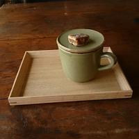 蓋付きマグカップの蓋の置き方 - 西村 歓子・作陶の日々
