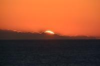 伊豆岬の夕陽 - 三宅島風景