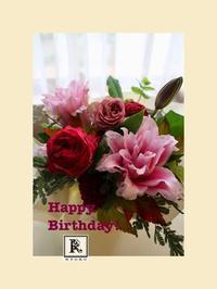 今年もお誕生日プレゼントのお花を担当させていただきました🎁 - Bouquets_ryoko
