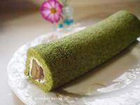 栗の渋皮煮入り抹茶ロールケーキ♪ - アリスのトリップ
