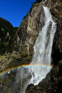 巨瀑の虹を眺める大台ヶ原西の滝 - 峰さんの山あるき
