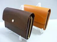 中型財布?・ファスナー:紙幣・カード・硬貨 - 革小物 paddy の作品