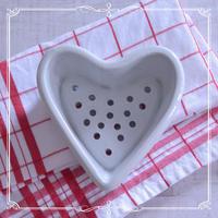 ◆フランスアンティーク*ハート型が可愛い♡水切りポット - フランス雑貨とデコパージュ&ギフトラッピング教室 『meli-melo鎌倉』