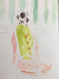 展示準備、子育て… - 『一日一畫』 日本画家池上紘子