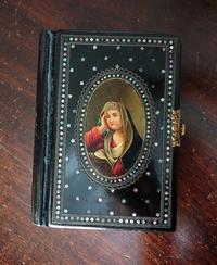 Book296 19世紀螺鈿装飾の宗教書 - スペイン・バルセロナ・アンティーク gyu's shop