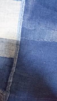 襤褸と藍を合わせたブラウス製作中 - 紅い風
