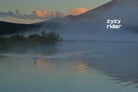 山中湖の気嵐 - ジージーライダーの自然彩彩