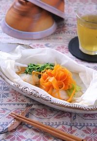白身魚のレンジ蒸し - cafeごはん。ときどきおやつ