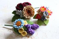 サンフェルト社さんからフェルトのお花のキットが発売されます - フェルタート(R)・オフフープ(R)立体刺繍作家PieniSieniのブログ