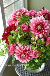 両親贈呈品の花束♪ - 花色~あなたの好きなお花屋さんになりたい~