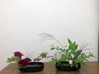 秋の生け花 - リリ子の一坪ガーデン