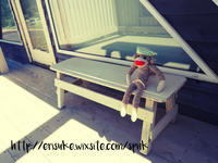 新しくなったバルコニーに手作りベンチを置きました。 - 暮らしをつくる、DIY*スプンク